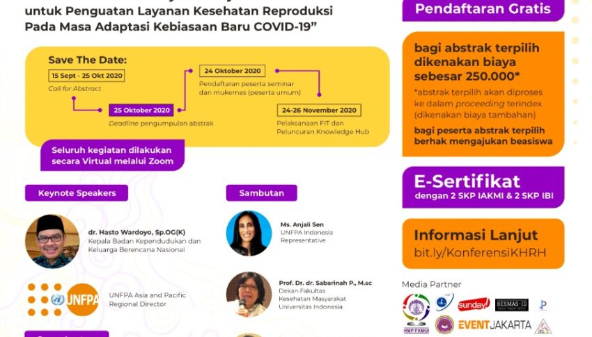 Konferensi Nasional Kesehatan Reproduksi: Peluncuran Knowledge Hub dan Forum Ilmiah Tahunan IAKMI VI