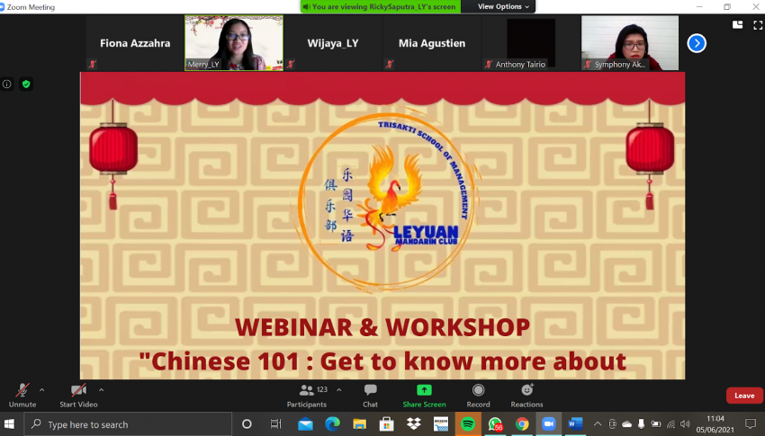 Webinar and Workshop Chinese 101 : Get To Know More About China